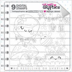 Spring Stamps 80OFF Commercial Use Digi Stamp Digital Image