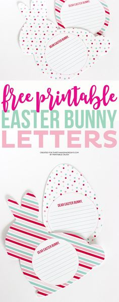 These FREE Printable Easter Bunny Letters are a fun keepsake for your kids to do the night before Easter. They come in two fun shapes and patterns!