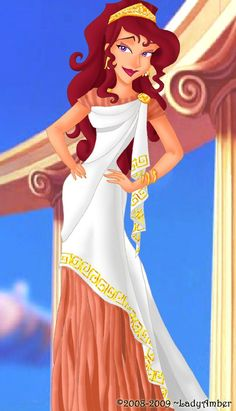 Megara, dressed in a beautiful Grecian wedding gown! I love that she looks softer and sweeter in this picture than she usually does; being in love can do that to a girl <3