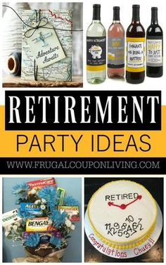 Plan the perfect event with these Retirement Party Ideas on Frugal Coupon Living. We found some of the most creative retirement ideas to show one& appreciation. Military Retirement Parties, Teacher Retirement Parties, Retirement Decorations, Retirement Celebration, Retirement Gifts For Women, Retirement Party Decorations, Retirement Cakes, Happy Retirement, Retirement Ideas