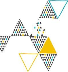 print & pattern: DESIGNERS - yoke Geometric Pattern Design, Triangle Pattern, Illustrations, Graphic Illustration, Triangles, Triangle Quilts, Textures Patterns, Print Patterns, Isometric Shapes