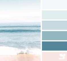 THE SEA { mental vacation } December 26 2017 image via: Design Seeds, Bedroom Color Schemes, Bedroom Colors, Colour Schemes, Beach Color Palettes, Colour Pallette, Paint Colors For Home, House Colors, Nautical Paint Colors