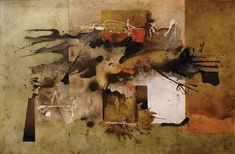 Junio. Sin título, óleo sobre tela, 130x200, 2011, Manuel Felguérez.