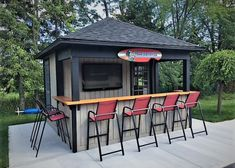 Backyard Cabana, Pool Cabana, Backyard Bar, Backyard Sheds, Swimming Pools Backyard, Lap Pools, Indoor Pools, Pool Decks, Garden Pool