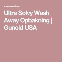 Ultra Solvy Wash Away Opbakning |  Gunold USA