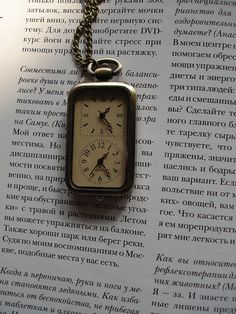 Antique Pocket Watch Necklace Bronze Pendant by Azuraccessories, $6.33 Awesome Etsy Shop, need 3 to wear togethr