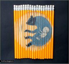 Drawings on pencils