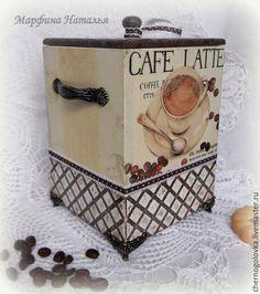 "Купить Короб для кофе ""Cofe Latte"" - короб для кухни, короб в подарок, короб…"