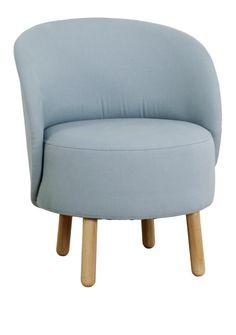 bold fauteuils fauteuil bleu ciel tissu - Chaise Style Scandinave Pas Cher1838