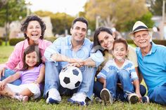 Multi Generation Family Playing Soccer Together royalty-free stock photo