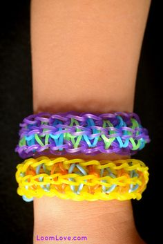 How to Make a Rainbow Loom Snakes and Ladders Bracelet Please Follow and Repin!