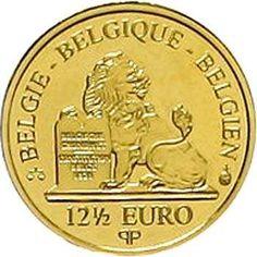 Kingdom of Belgium - 12.5 Euro 2008 Albert I. 1.25 g. 999 / 1000. in original casket with certificate. KM 271, nice 255. proof coinage  Dealer Teutoburger Münzauktion & Handel GmbH  Auction Minimum Bid: 50.00EUR