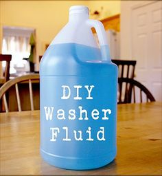 Non-Toxic Windshield Washer Fluid: 1 empty gallon jug, 8 oz. isopropyl rubbing alcohol (or high proof vodka), 1 oz. liquid castile soap, Pour rubbing alcohol into the empty jug. Fill jug with water, leaving room for the soap. Slowly add the soap. Cap the jug and gently tip upside down a few times to mix. Pour windshield wiper fluid into the correct compartment under your car hood. If you live in a colder climate, use 90% isopropyl alcohol in the winter to prevent the washer fluid from…