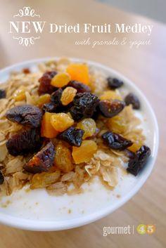 Figs, Apricots, Dried Cherries, Raisins & Homemade Granola and Yogurt ...