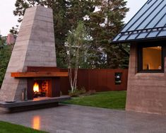 Steel Outdoor Fireplace Plans images