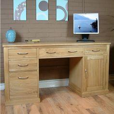 home office desk mobel oak furniture twin pedestal workstation oak computer desk oak