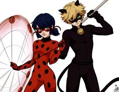 """ceejles: """" HAPPY NATIONAL SUPERHERO DAY!!! A normal LadyNoir dood for the first time ' W ' """""""