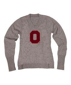 hot sale online 02530 284b1 NCAA Ohio State Buckeyes V-Neck Sweater - Women