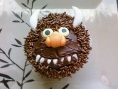 Wild Thing Cupcake for June 10 Where the Wild Things Are Day- Maurice Sendak's Birthday