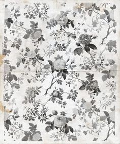 This is a modern colour way of the original pattern Rosegarden. We have preserved all the original details exactly as they are and made inte black and white. Everything from the minutely painted rain drops to the spotty old paper. Tips! Let the wallpaper act as a gathering point on your wall and hang it as a piece of art in the middle of the wall.