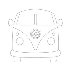 Pattern for string art VW bus Vw Bus, Vw Camper, Campers, Applique Patterns, Quilt Patterns, Sewing Crafts, Sewing Projects, Patchwork Quilting, Quilts