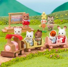Calico Critters baby train ride