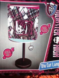 Monster High Lamp perfect for girl's room Monster High  decor