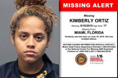 KIMBERLY ORTIZ, Age Now: 17, Missing: 06/16/2016. Missing From MIAMI, FL. ANYONE HAVING INFORMATION SHOULD CONTACT: Miami Dade Police Department (Florida) 1-305-476-5423.