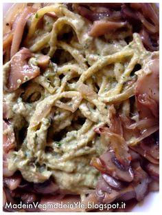 Made in Veg...Made in Yle: noodles con funghi e salsa umeboshi #vegan #macrobiotic #gf #glutenfree