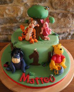 DolceTè ...e la dolce arte del Cake Design.: Winnie the Pooh cake....ancora!