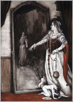 "bayazeth: """"The Bloody Countess, illustrated by Santiago Caruso "" """