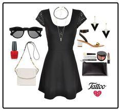 Nada como un vestido negro para lucir chic en cualquier momento #ootd #TattooStyle
