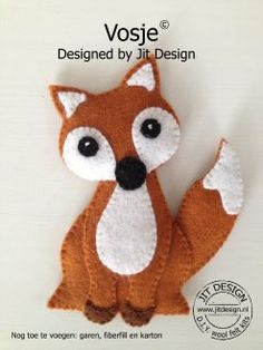 DIY wolvilt pakket Vosje/ DIY wool felt kit Fox