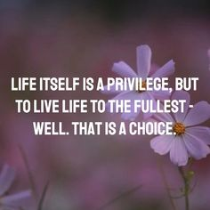 Live life itself is a privilege, but to live life to the fullest - well. That is a choice. 👌 #quotes #quoteoftheday #life #quotesaboutlife