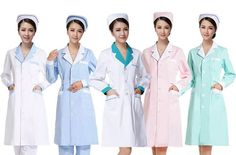 women Medical Coat Clothing Physician Services Uniform Nurse Clothing Long-sleeve Polyester Protect lab coats Cloth Six color #Affiliate