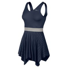 Show off your sense of style in the Nike Women`s Novelty Knit Tennis Dress Midnight Navy.This modern dress features smart design details such as stretch jersey Dri-FIT fabric at the bodice for a fit that is both comfortable and flattering.