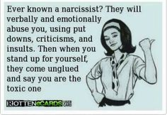 Not putting up with verbal & emotional abuse anymore is simply standing up for yourself. Narcissistic People, Narcissistic Behavior, Narcissistic Sociopath, Narcissistic Personality Disorder, Narcissistic Mother In Law, The Words, Quotes To Live By, Me Quotes, Qoutes