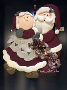 Moldes navideños de señor y señora Claus Christmas Crafts Sewing, Art Christmas Gifts, Christmas Applique, Christmas Couple, Felt Christmas Ornaments, Very Merry Christmas, Country Christmas, Christmas Projects, Holiday Crafts