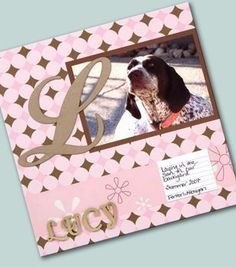 Dog Days Scrapbook Page