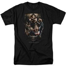 Batman V Superman Three In Action Adult Regular Fit T-Shirt