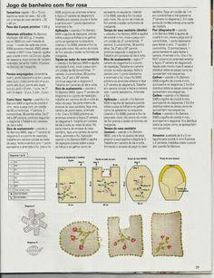 Clube do Crochê: Jogo de banheiro bordado (com gráficos)2/4