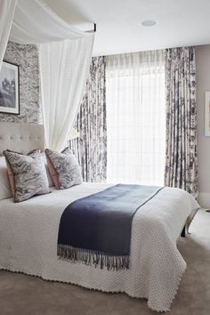 Lighting through sheers of canopy - Bed canopy ideas | House & Garden