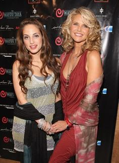 Christie Brinkley and her daughter Alexa Ray Joel, I think they are both really beautiful