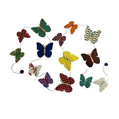 Fair Trade Eco Friendly Paper Butterfly Garland Handcrafted in Nepal >>> You can find more details by visiting the image link.Note:It is affiliate link to Amazon.