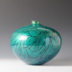 YURIKINSAITSUBO TORITACHI (Jar in underglaze gold Birds)
