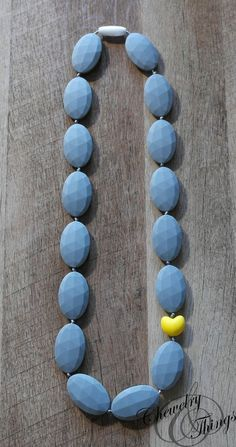 The Slate Flats Baby Teething / Nursing Necklace with Heart