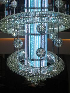 Crystal chandelier...