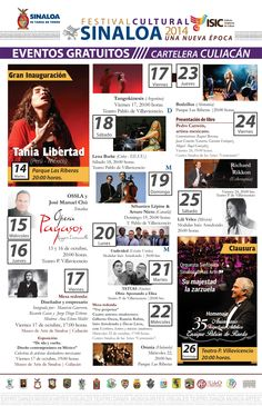 Festival Cultural Sinaloa 2014 Una Nueva Época, del 14 al 26 de octubre en #Culiacán