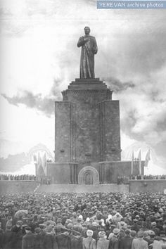Unveiling of the Stalin monument, Yerevan, 1950