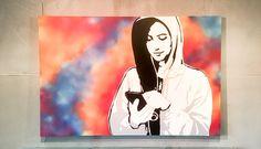mobile Wandgestaltung Graffiti Stencil Kunstwerk Bild Streetart Mobiles, Graffiti, Room Interior Design, Artworks, Pictures, Mobile Phones, Graffiti Artwork, Street Art Graffiti